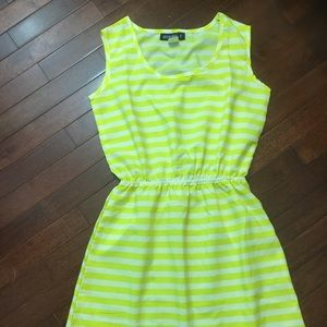 Azura Yellow & White Dress